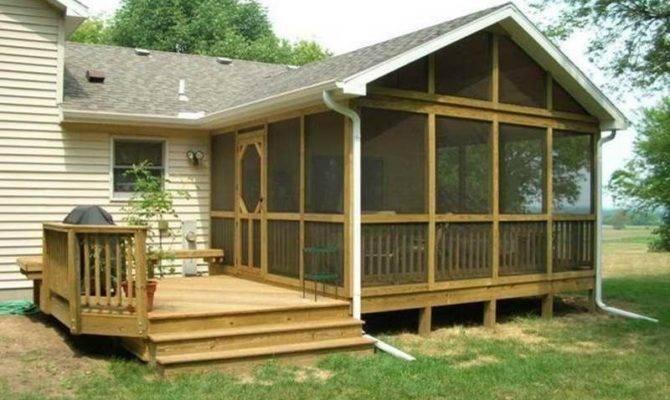 Indoor Screened Deck Back Porch Design Houses