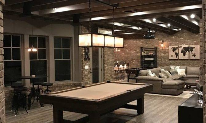 Industrial Finished Basement