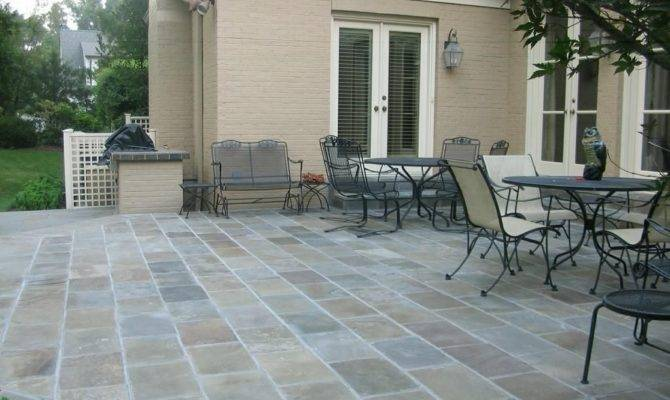 Inexpensive Outdoor Flooring Ideas Diy Interlocking Slate