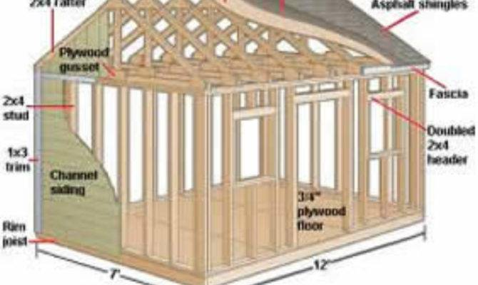 Information Outdoor Shed Plan Blueprints