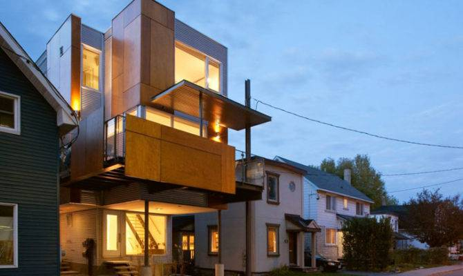 Innovative Front Back Infill House Creates Two Separate
