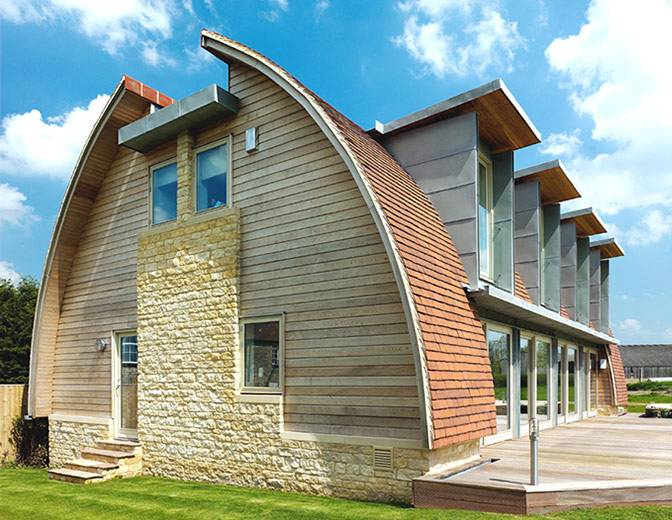 Innovative Ideas Modern Curves Prefabricated Wooden Roof Design House House Plans 87296