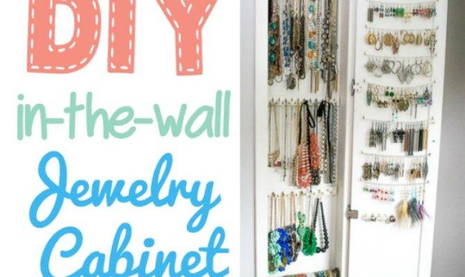 Inset Jewelry Cabinet Cutting Wall Building