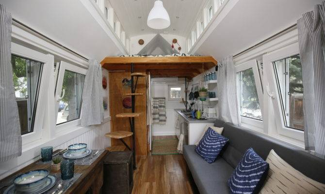 Inside Handsome Tiny House Solar Shingles Curbed