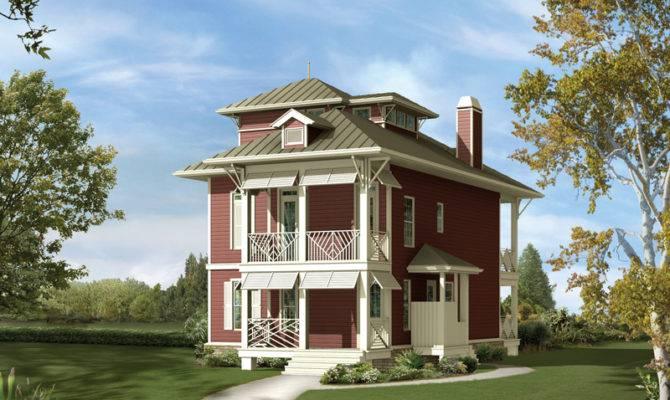 Inspiring Narrow Lot Beach House Plans