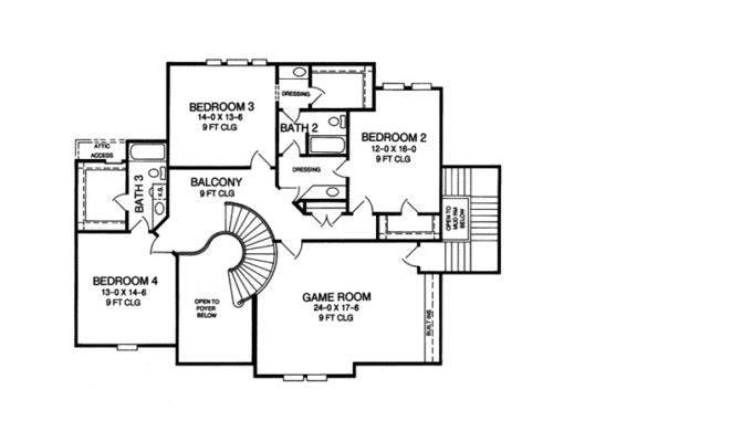 Inspiring Story House Plans Master Second Floor