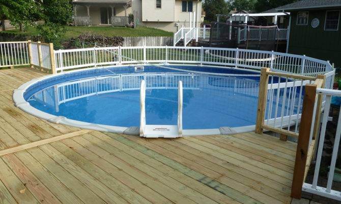 Installing Above Ground Pool Deck Comforthouse Pro