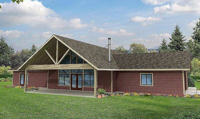Interesting Straight Roof Line House Plans