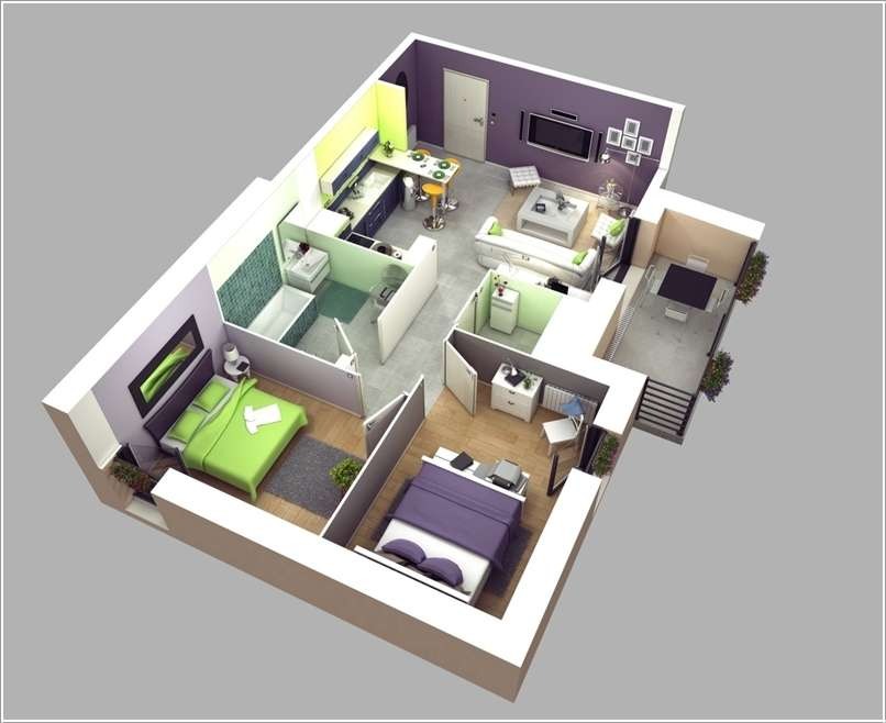 Interior Design Awesome Two Bedroom Apartment Floor Plans House Plans 22634