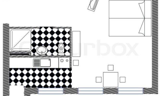 Interior Design Blueprint Abstract Art Illustration