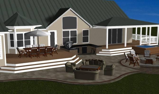 Interior Design Home Ideas Backyard Covered Deck