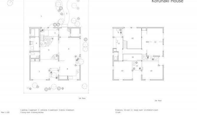 Interior Design Minimalist White Wooden Home Floor Layout Plan