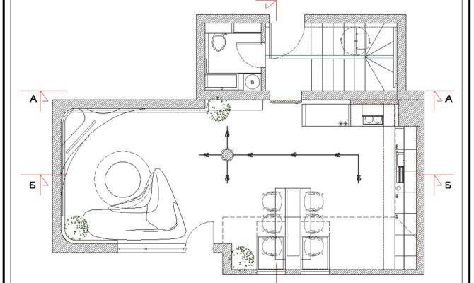 Interior First Floor Plan Home Building Furniture
