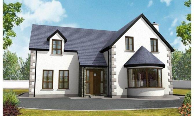 Irish Story Half House Plans