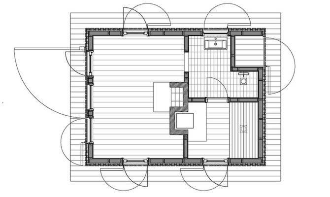 Island Sauna General Architecture Small House