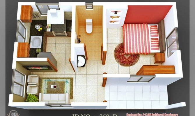 Isometric Views Small House Plans Indian Home Decor