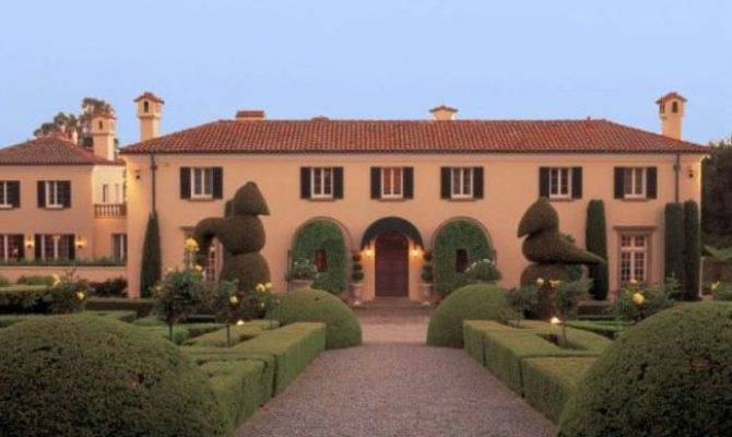 Italian Style Mansion Garden Inspirations