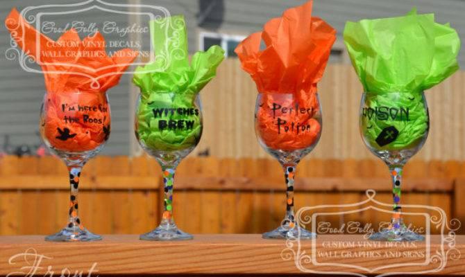 Items Similar Halloween Diy Wine Glass Decal Set Etsy