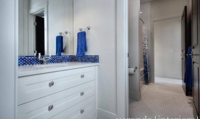 Jack Jill Bathroom Contemporary Veranda Interiors