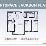 Jackson Flats Floor Plan Three Bedroom