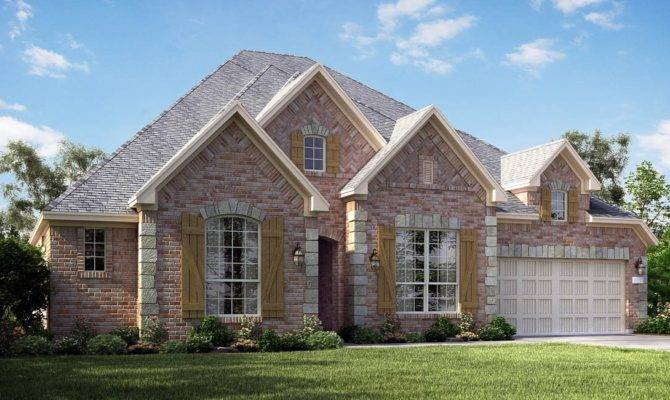 Jade Brick Stone Accent New Home Plan Falls Green Meadows