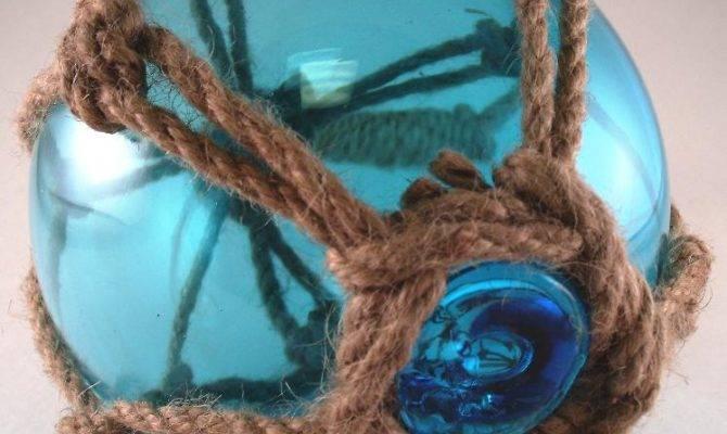 Japanese Glass Fishing Fish Float Buoy Tiki Decor