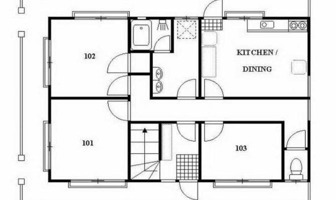 Japanese Home Plans Guest House Floor Japan