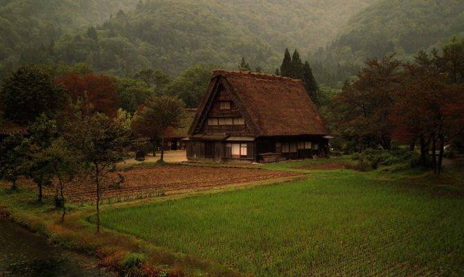 Japanese Steep Roofed House