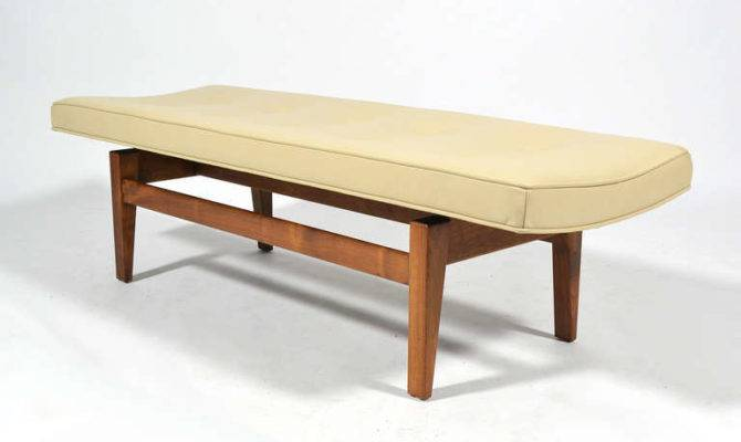 Jens Risom Floating Bench Leather Seat Stdibs