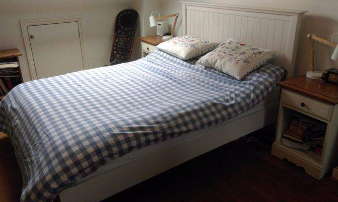 John Lewis New England Style White Double Bed Frame Queen