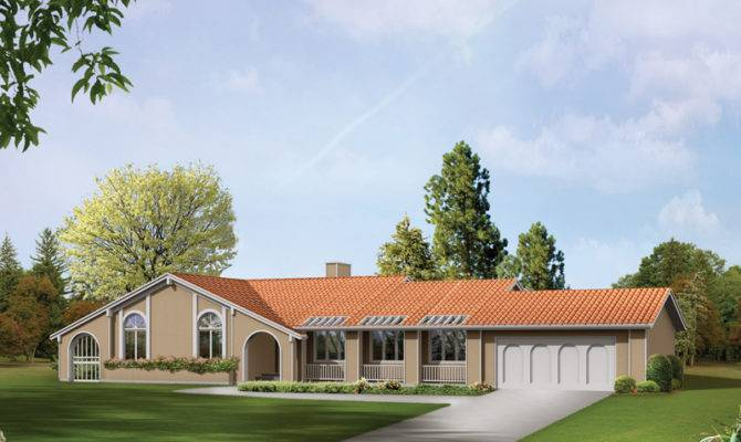 Jolla Spanish Ranch Home Plan House Plans More