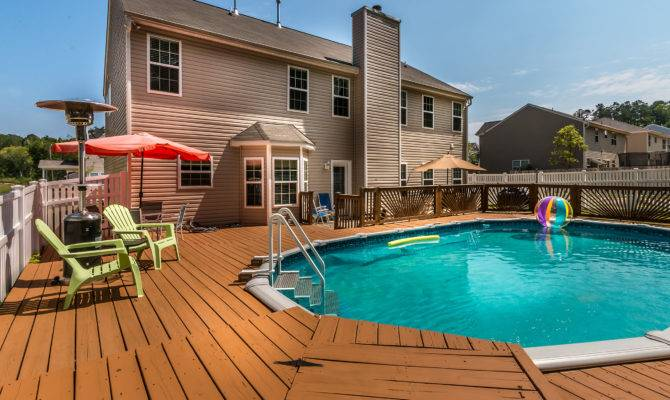Just Listed North Charlotte Home Sale Swimming Pool