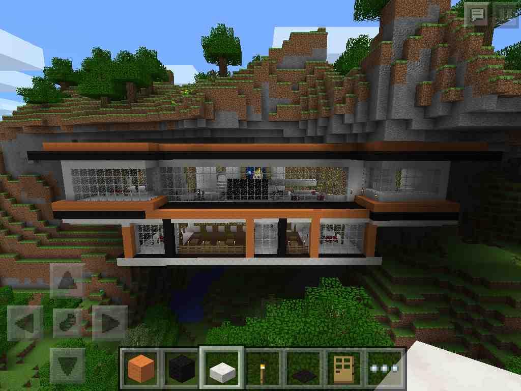 Just Mountain House Built Minecraft