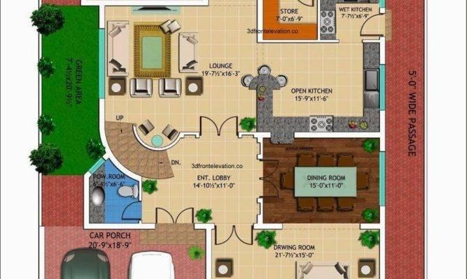 Kanal House Drawing Floor Plans Layout Basement