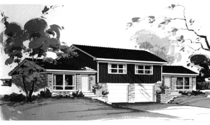 Karleigh Split Level Duplex Plan House Plans