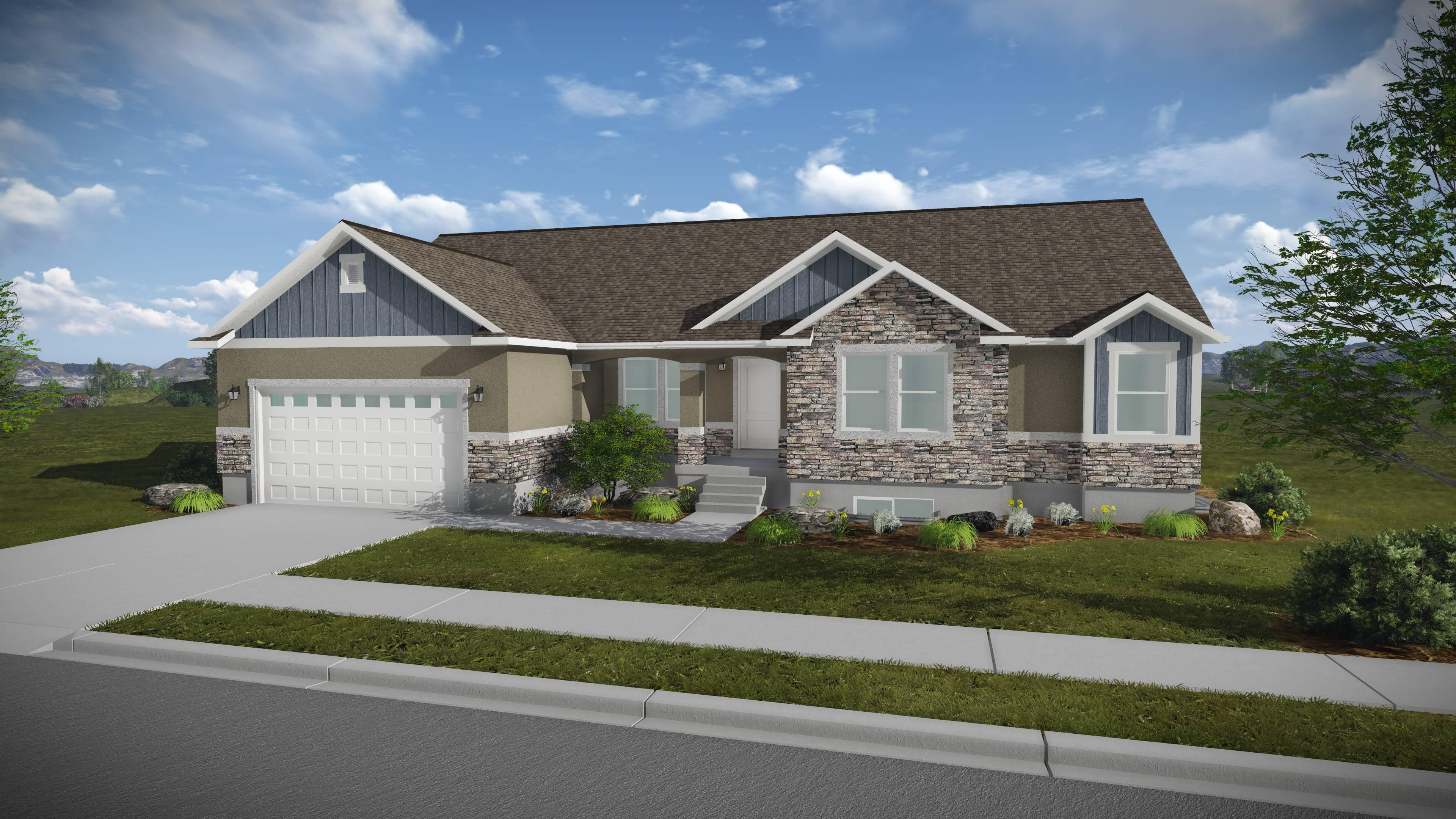Katrina Rambler House Plan Utah Home Edge Homes House Plans 54105