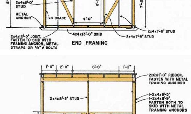 Kelana Pent Shed Plans Build Diy