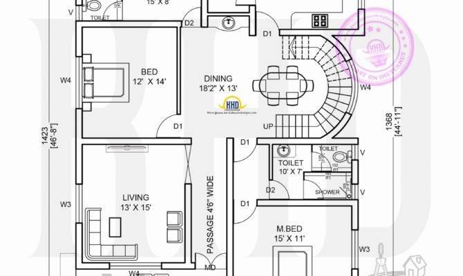 Kerala Home Design Floor Plans Bedroom Contemporary