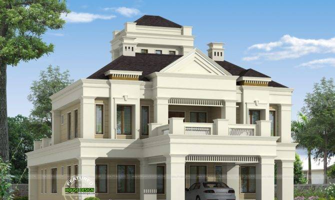Kerala Home Design Floor Plans Colonial Style