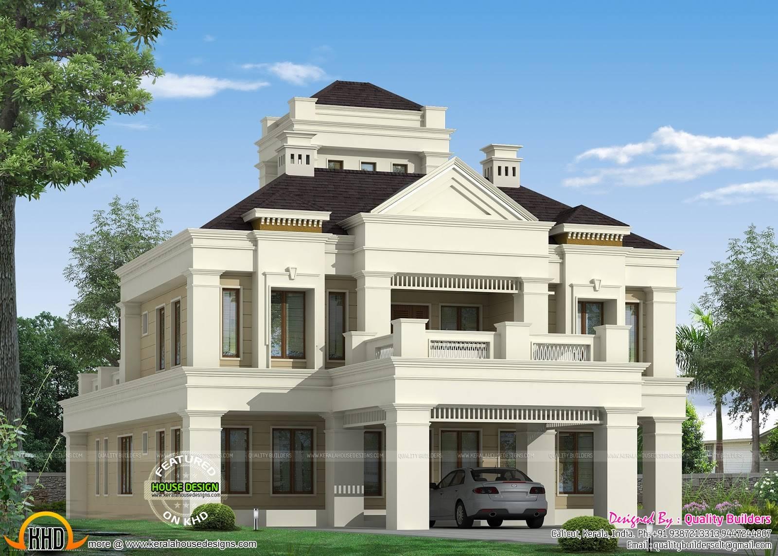 Kerala Home Design Floor Plans Colonial Style House Plans 159801