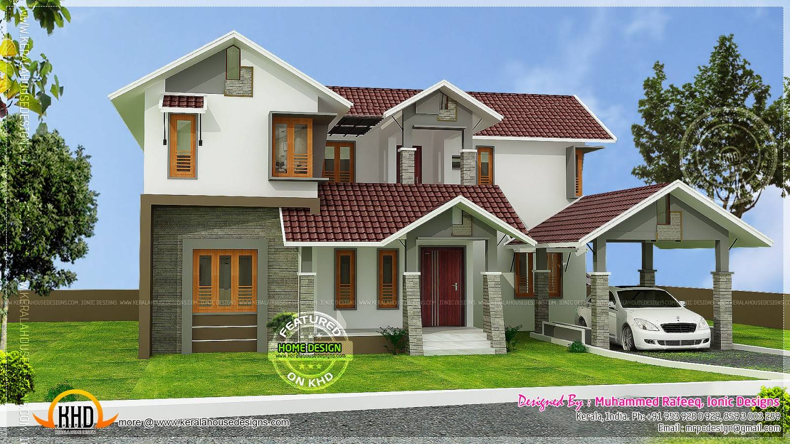 Kerala Sloping Roof House Home Plans House Plans 166964