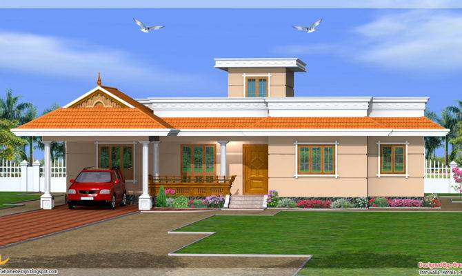 Kerala Style Bedroom One Story House