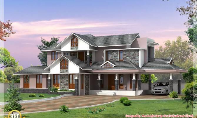 Kerala Style Dream Home Elevations House Design Idea