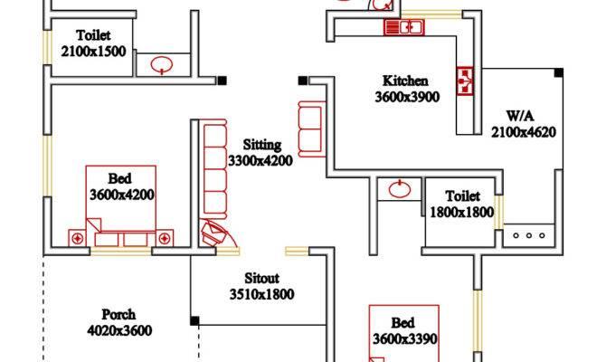 Kerala Style Floor Plan Elevation Home