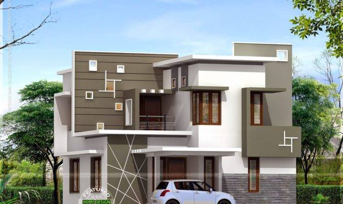 Kerala Style Modern House Plans Elevations Front Design
