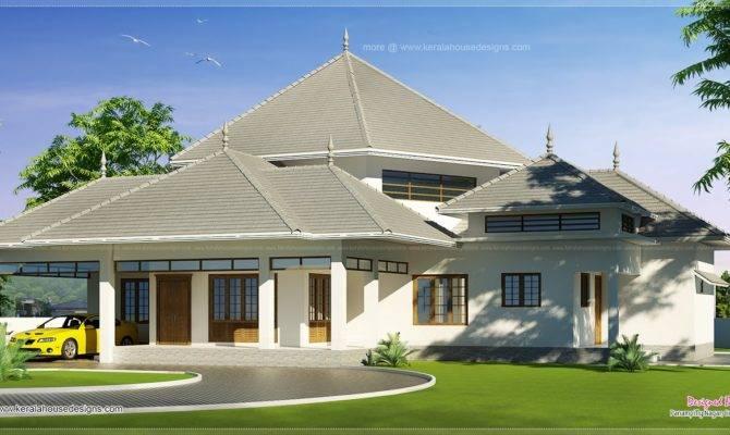 Kerala Style Modern Roof House Feet Design Plans