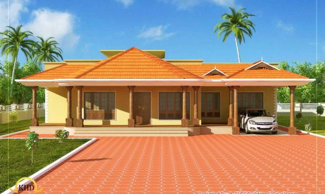 Kerala Style Single Floor House Home Appliance
