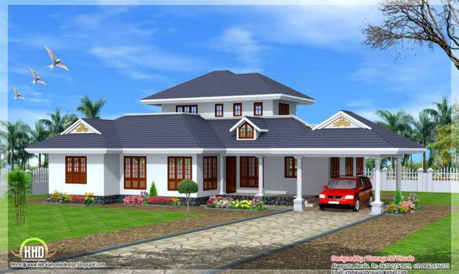 Kerala Style Single Floor Villa Home Design Plans