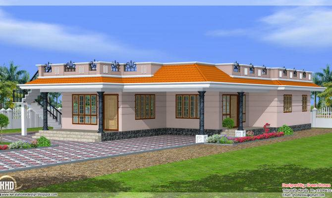 Kerala Style Single Storey Feet Home Design
