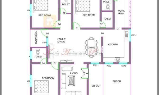Kerala Style Single Storied House Plan Its Elevation